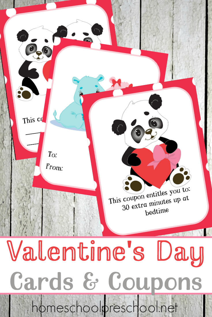 Jungle Love Valentine's Day cards and coupons just in time for the big day! | @homeschlprek