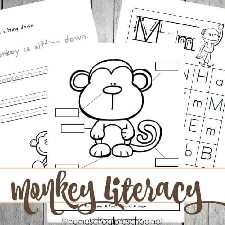 Preschool and Kindergarten M is for Monkey Printables