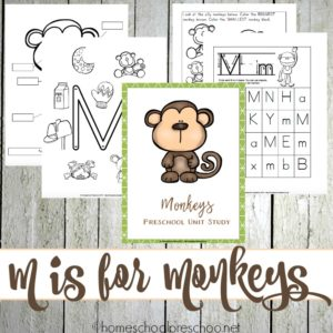 Preschool Monkey Activities and Printables