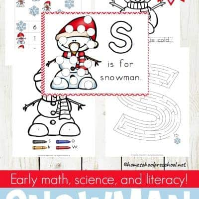 Preschool Snowman Activities, Books, and Printables