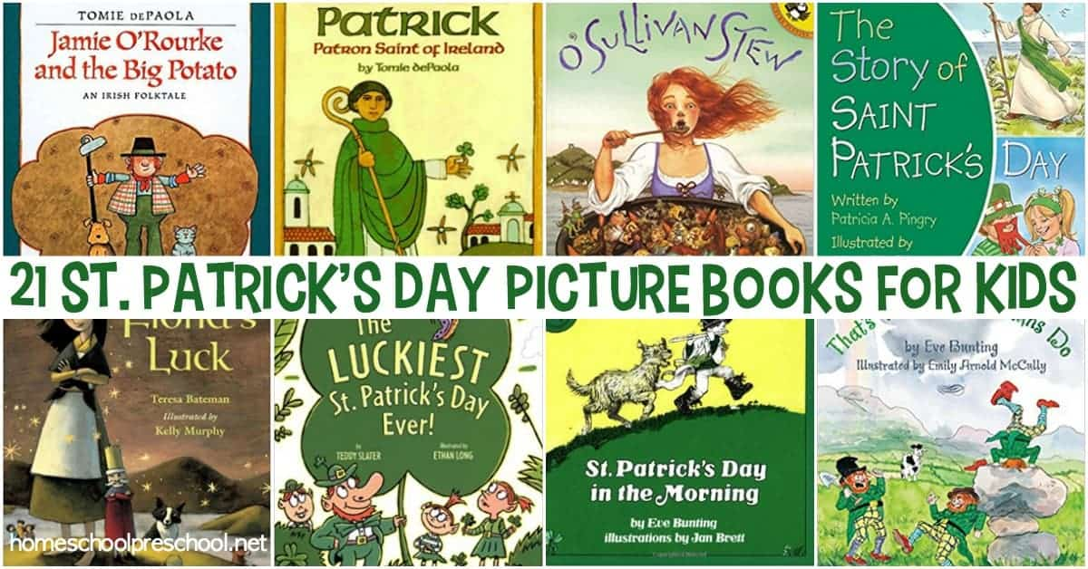 The luck of the Irish will be on your side with this amazing collection of St Patricks Day books for kids! These books feature legends, leprechauns, and lots of luck!