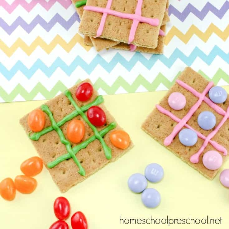 Easter Snack for Kids: Jelly Bean Tic Tac Toe