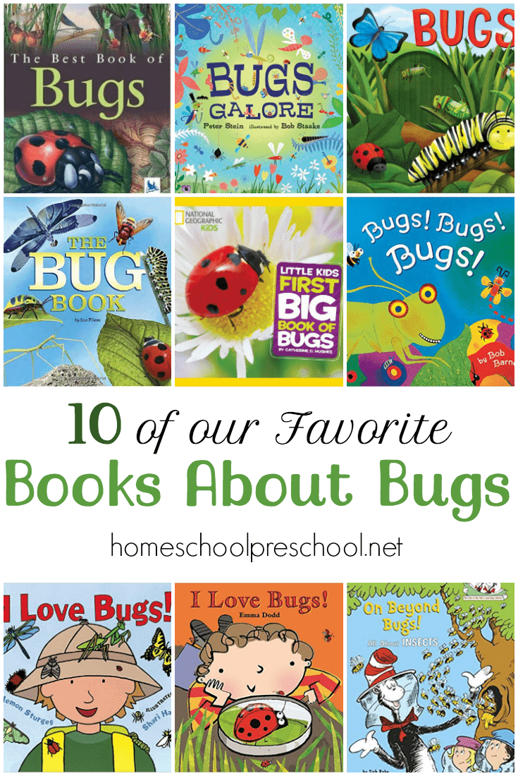 Spring is just around the corner. Fill your book basket with our favorite children's books about bugs.  |  @homeschlprek