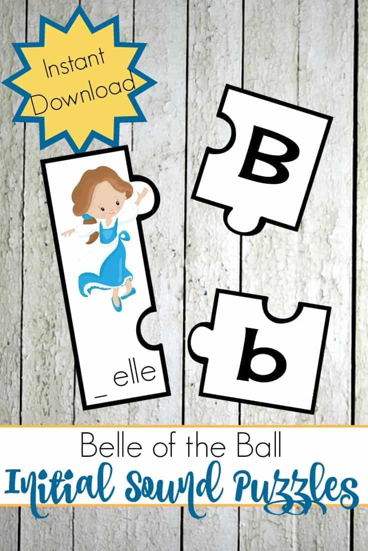 Preschoolers will love practicing their beginning sounds with their favorite characters from Beauty and the Beast! | @homeschlprek
