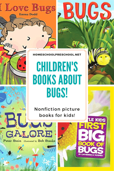 Do your kids love bugs? Help them learn more about them by reading these childrens books about bugs! These nonfiction selections are awesome for kids!