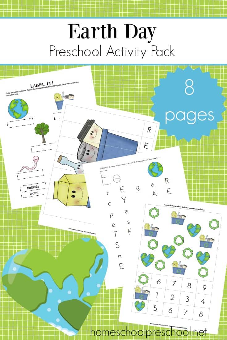 Printable Earth Day Activities for Preschool and Kindergarten