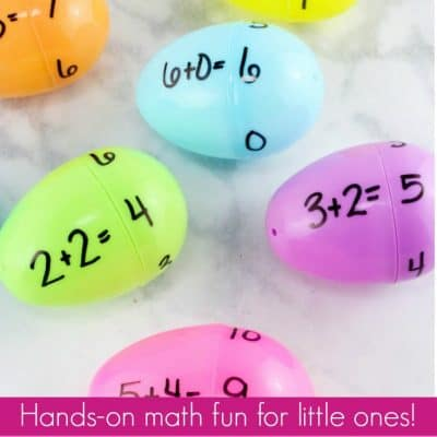 How to Practice Addition Facts with Plastic Eggs