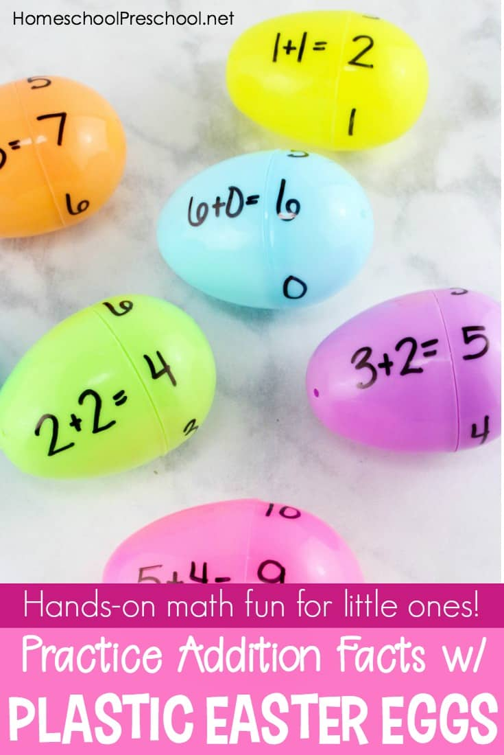 Come discover how your students can practice addition facts with plastic Easter eggs! This activity is perfect for your spring homeschool lessons.