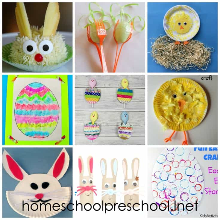 If you're looking for a new craft to try this spring, don't miss this collection of Easter crafts for preschoolers featuring chicks, bunnies, eggs, and more!