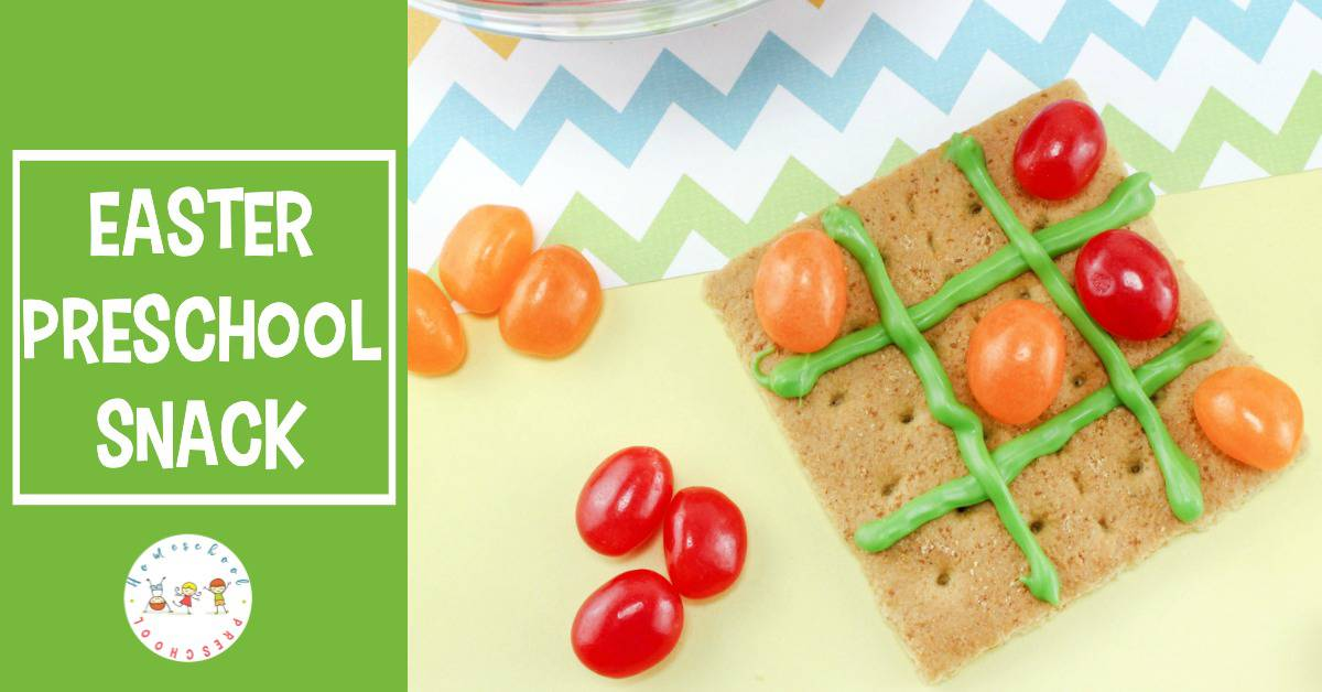 You will be the coolest mom in your play group when you bring this fun jellybean tic tac toe Easter preschool snack to your next playdate!