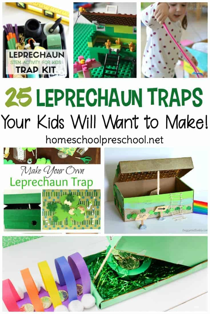 Help your little ones catch a leprechaun in their homemade leprechaun traps. Here are 25 ideas that are sure to inspire your kids!