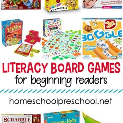 Literacy Board Games for Preschoolers