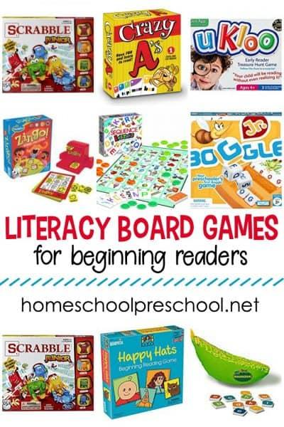 Literacy Board Games for Preschoolers