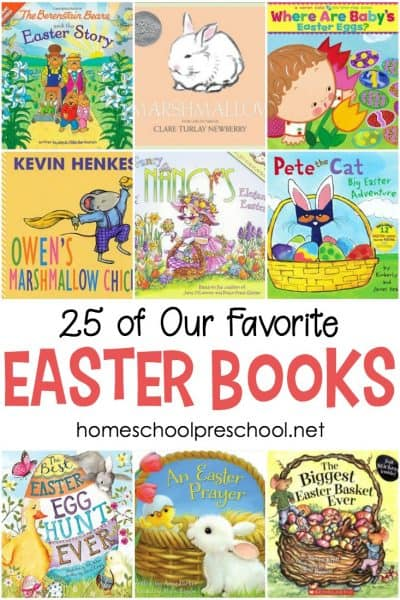 Fill your bookshelves with these wonderful preschool Easter books. This is a great collection of new and classic books for toddlers and preschoolers.