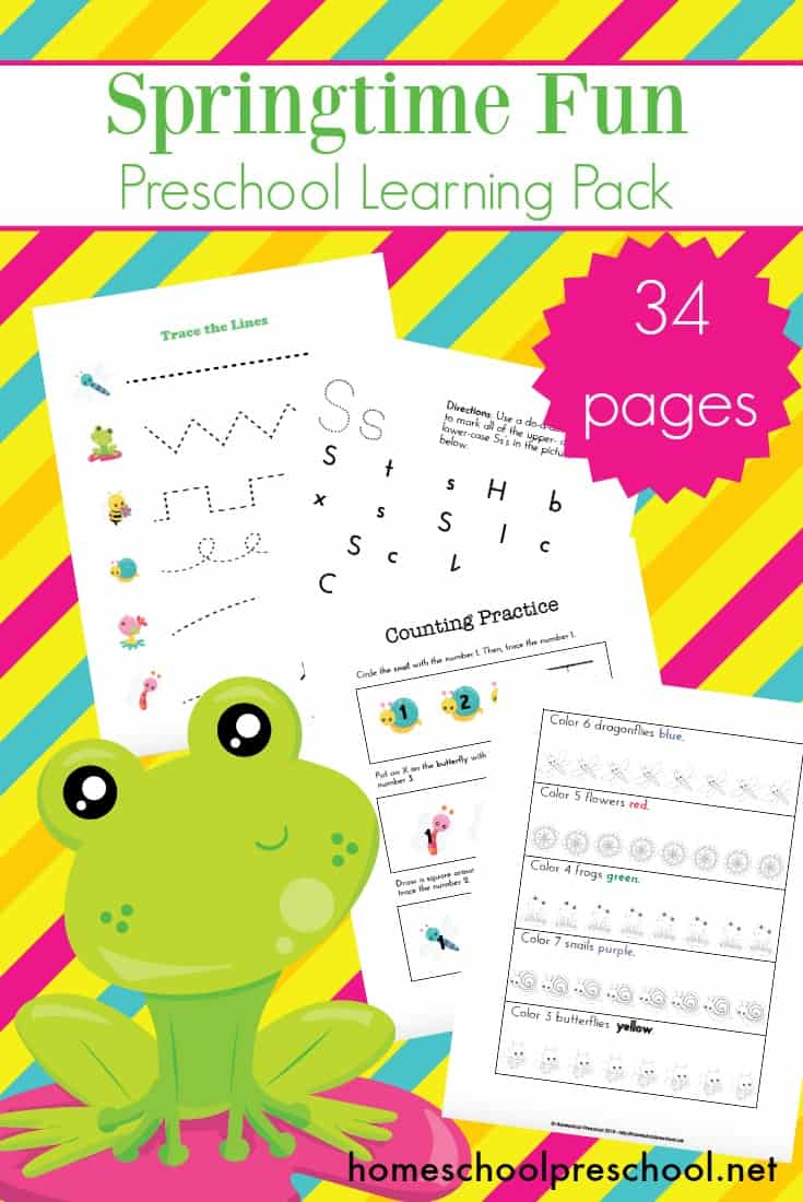 Spring has sprung, and I have some new spring printables for your preschoolers! This spring learning pack is the perfect addition to your upcoming homeschool lessons.