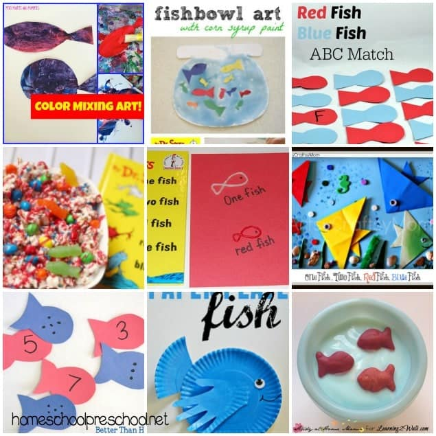 One Fish Two Fish Red Fish Blue Fish Activities