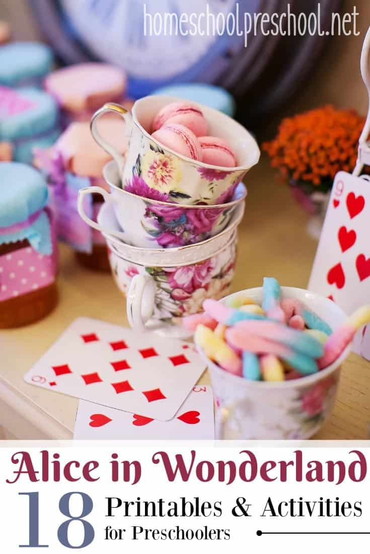 Alice in Wonderland is such a funny story to read with preschoolers. These Alice in Wonderland printables and activities are a great addition to the story.