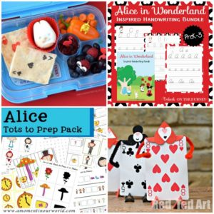 18 Alice in Wonderland Printables and Preschool Activities