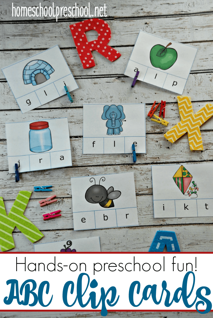 Are you teaching beginning sounds? These printable alphabet clip cards are great teaching tools for early learners.