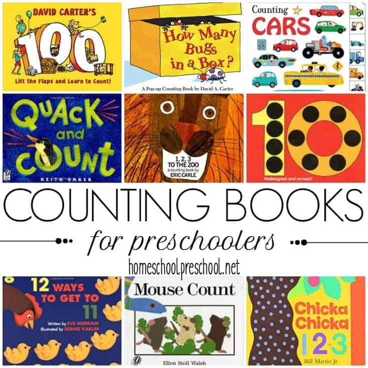 """Encourage your little ones to practice counting with these counting books for preschoolers. This is a great way to engage your little ones without """"doing school."""""""