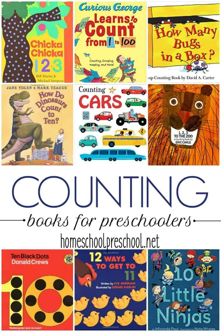 "Encourage your little ones to practice counting with these counting books for preschoolers. This is a great way to engage your little ones without ""doing school."""