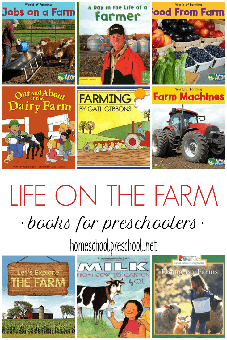 Teach kids about farming with this collection of children's picture books about farms. From machinery to food production, kids will learn all about life on the farm.