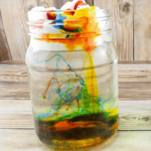 Spring Science for Kids: Rain Cloud in a Jar