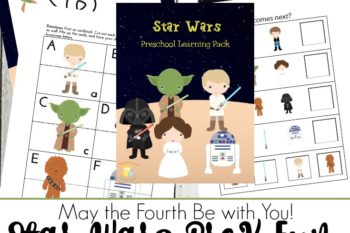 May the Fourth Be with You: Star Wars Preschool Printable