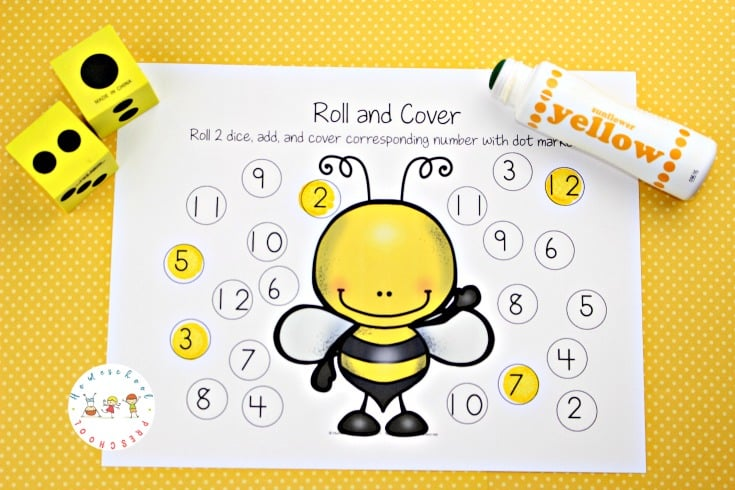 These honey bee math activities for preschoolers are perfect for your springtime homeschool lessons. Focus on counting, adding, and number identification with these printable pages.