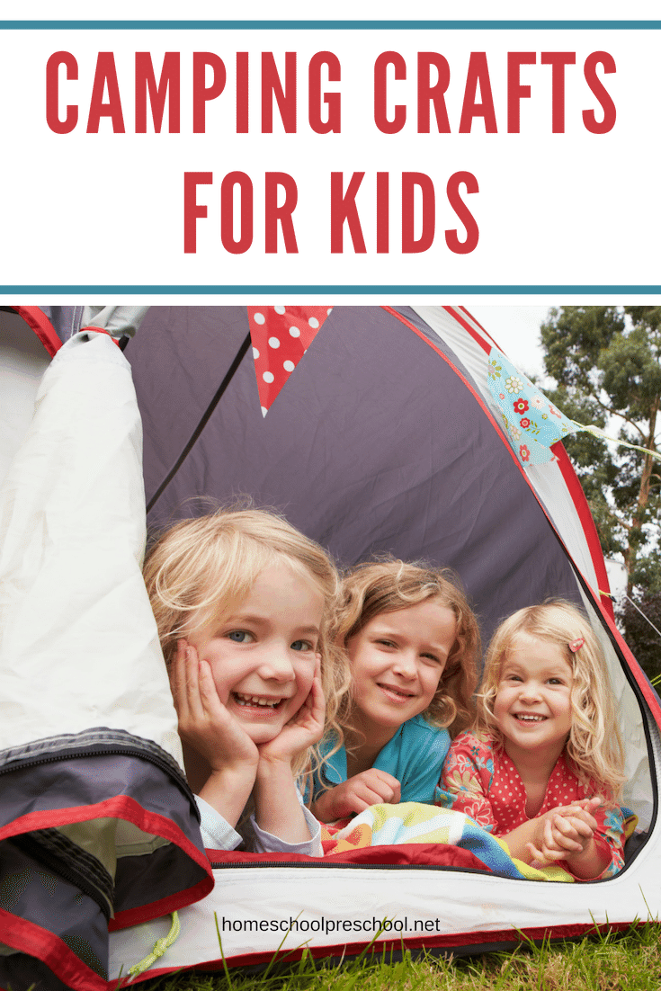 Whether you're gearing up for a summer camping trip or you're planning a backyard campout, your kids will love these awesome camping crafts!
