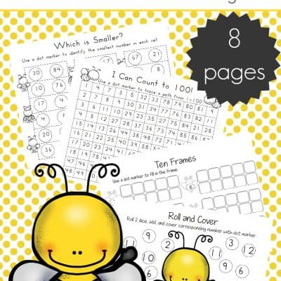 8 Bee-Themed Math Activities for Preschoolers