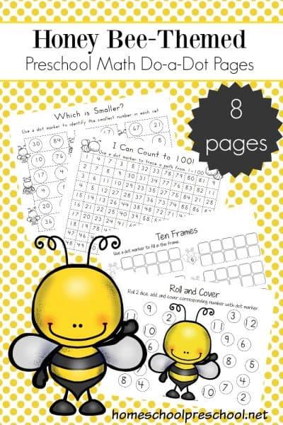 8 Bee-Themed Math Activities for Preschoolers