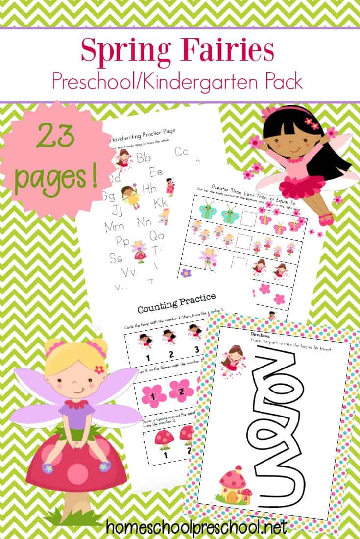 These fairies are here to make your preschool lessons more magical this spring. Stop by and download your Spring Fairies preschool printable learning pack today!