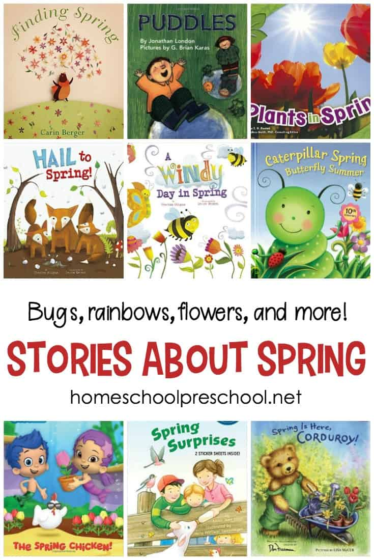 There's so much to read about in the spring! Bees, bugs, flowers, and weather are the perfect themes for great stories about spring.