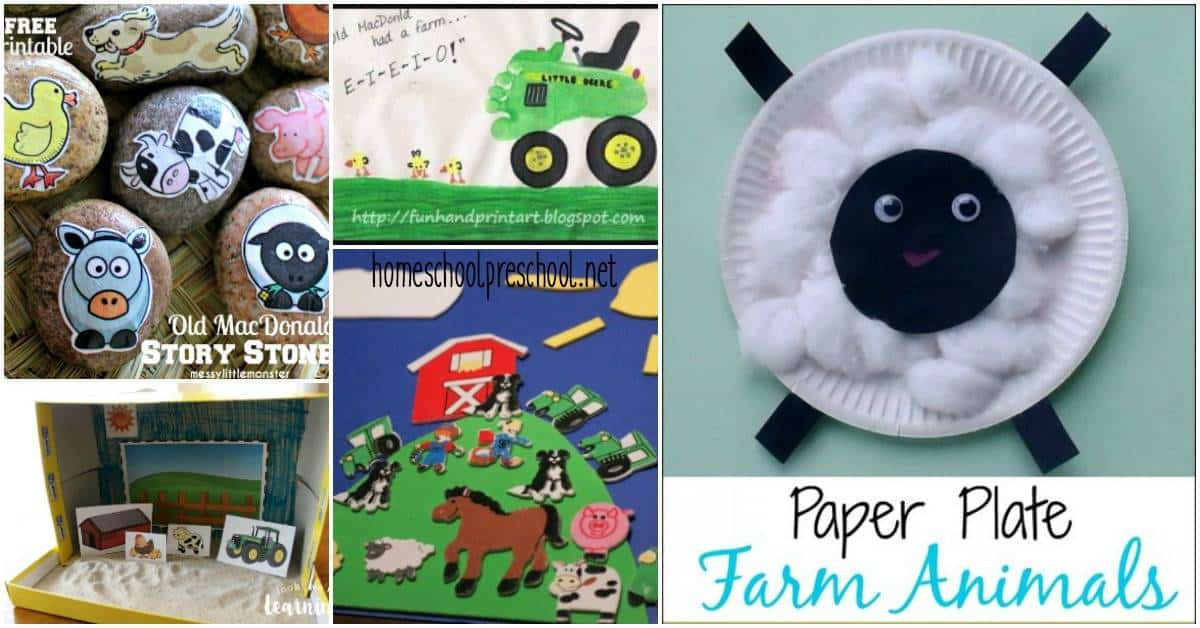 Are you working on a farm-theme with your preschoolers? Or are you looking for crafts to add to your preschool letter of the week lessons? Look no further!
