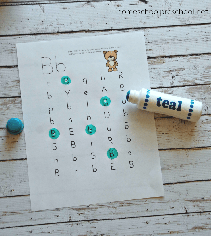 Are you teaching your preschoolers the alphabet? This preschool letter of the week pack is perfect for your Letter B activities!