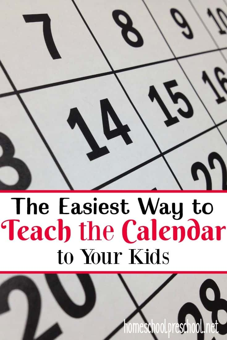 If you are struggling to teach your preschooler how to use a calendar, come discover my secret! I've used it to teach the calendar to all 6 of my kids!