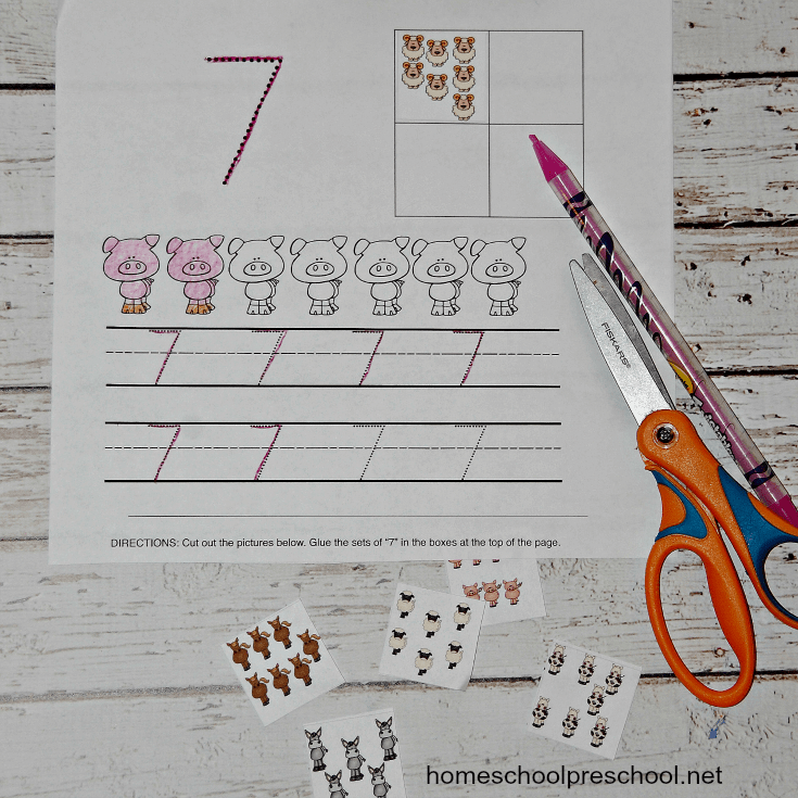 These farm-themed number sense activities will help young learners recognize and count items from 1 to 10.
