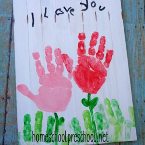 Handprint Mother's Day Craft Kids Can Make