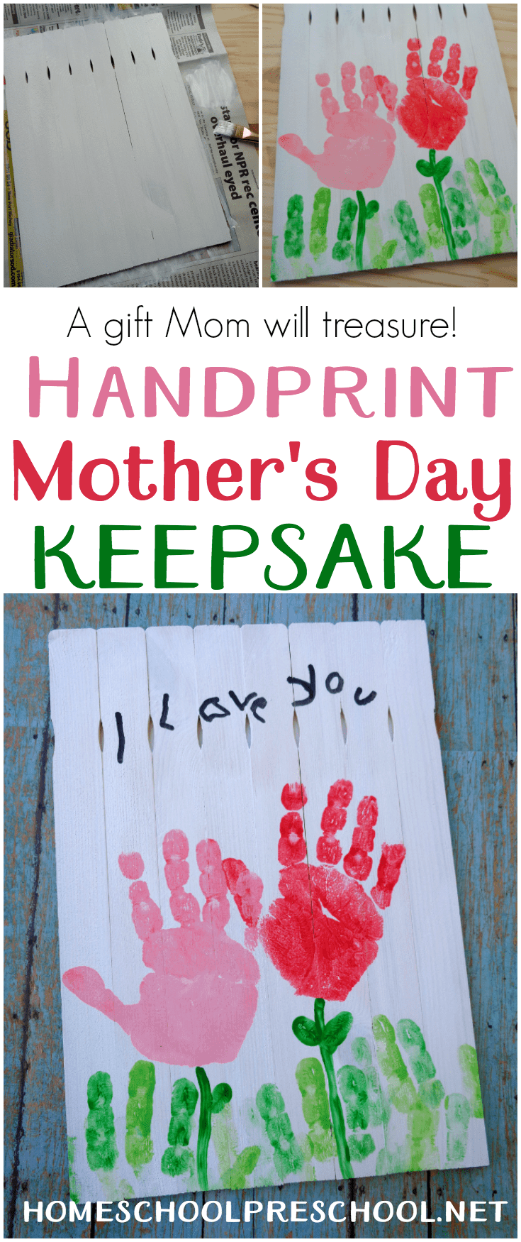 Young kids love making gifts for others. Here's a Mother's Day craft that is sure to become a treasured keepsake for many years to come.