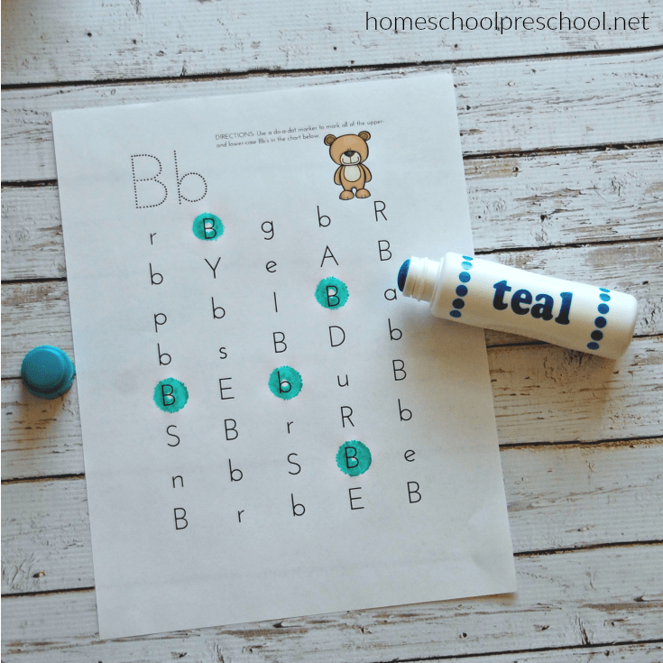 Preschool Letter of the Week: Letter B Printable