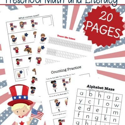 Printable Patriotic Kids Learning Activities