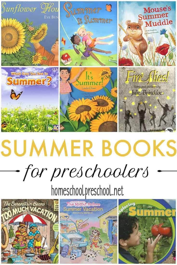 Fireflies, camping, summer vacation! Read about these activities and more in these engaging summer books for preschoolers!
