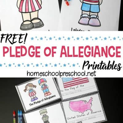 Pledge of Allegiance Worksheets for Early Learners