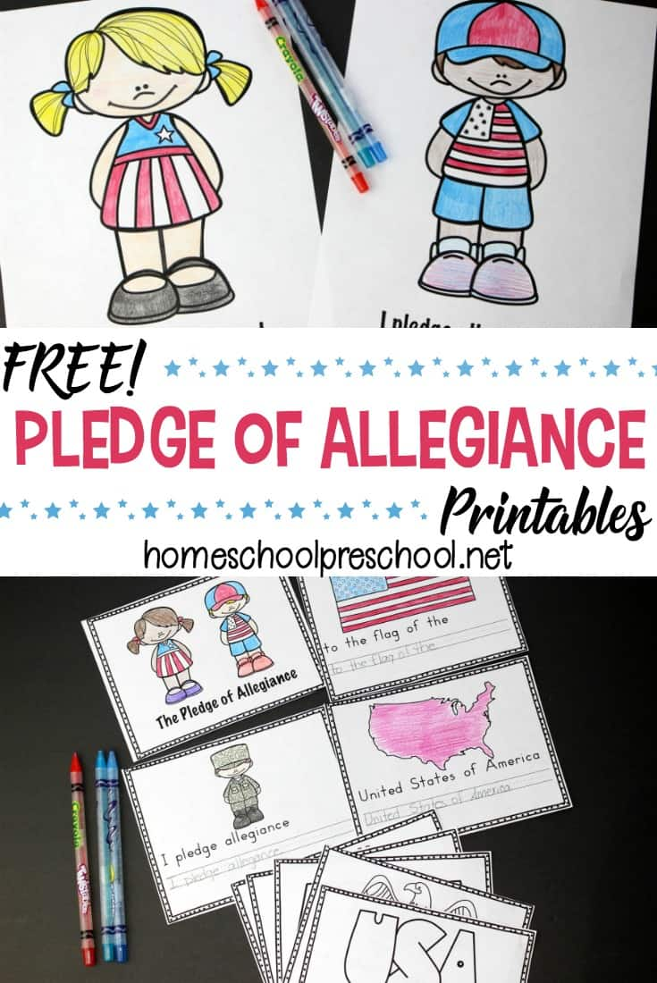 photograph regarding Pledge of Allegiance Printable known as Free of charge Preschool Pledge of Allegiance Printables