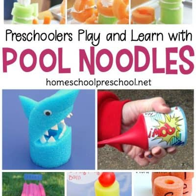 20 Pool Noodle Ideas for Preschool Playing and Learning
