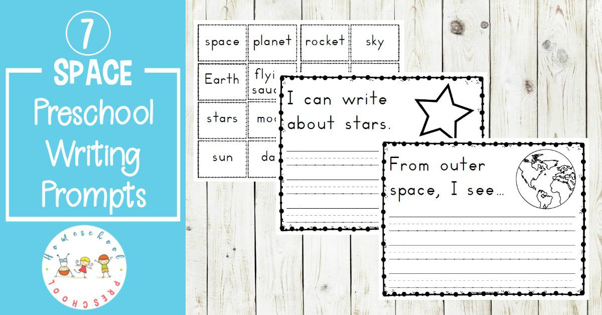 These space themed writing prompts are designed for emergent writers. The simple preschool writing prompts will give new writers confidence. They are out of this world!