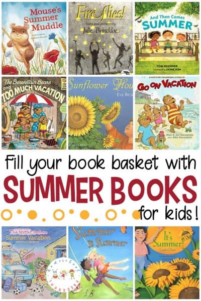 Whether you're working through a summer theme with your preschoolers or you're looking for new books to read, don't miss these summer books for preschoolers. Read about fireflies, camping, vacation, and more!