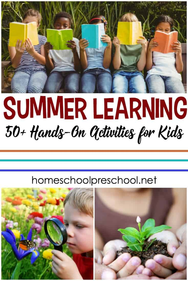 Discover more than 50 hands-on summer learning activities for preschoolers. Summer learning doesn't have to be formal, but it should be fun!