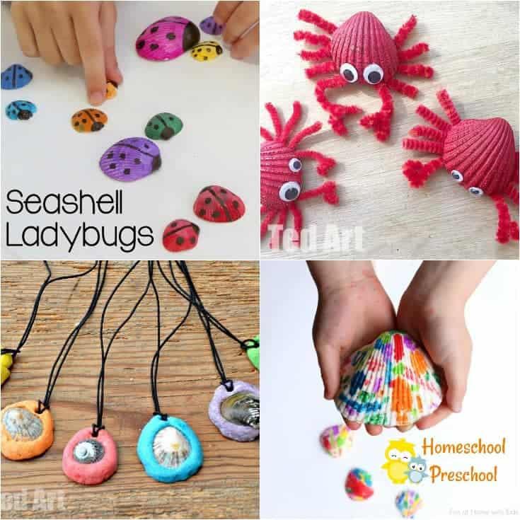 15 Sensational Seashell Crafts for Kids